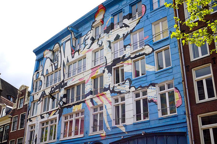 Spuistraat graffitis en amsterdam