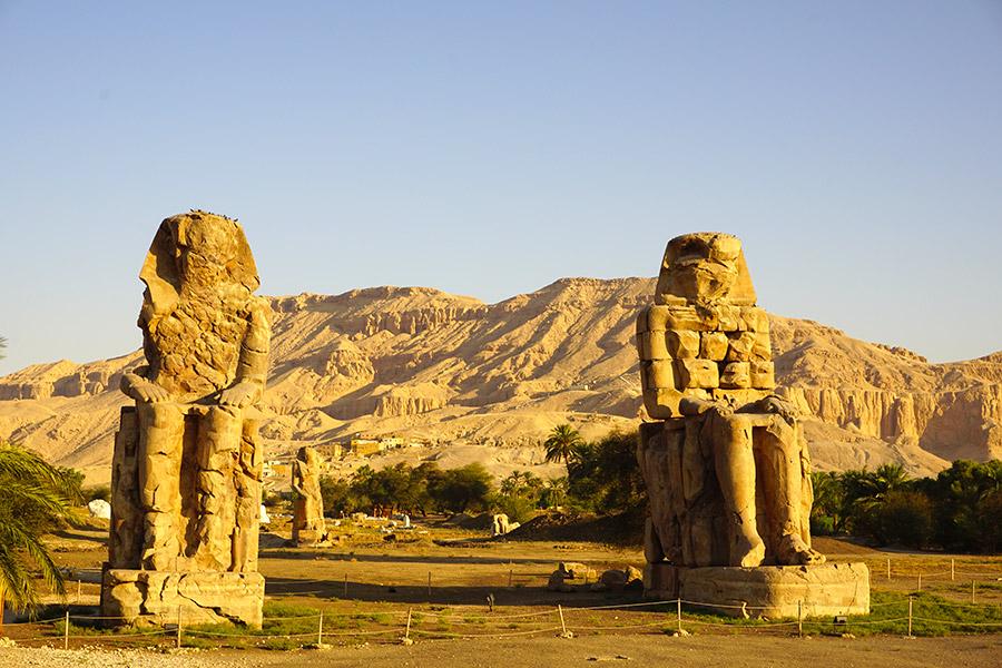 Colosos de Memnón en Egipto