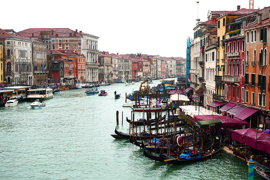 Gran canal venecia desde Puente Rialto