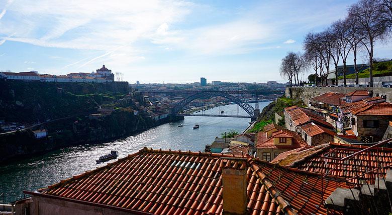 mirador famoso en Oporto