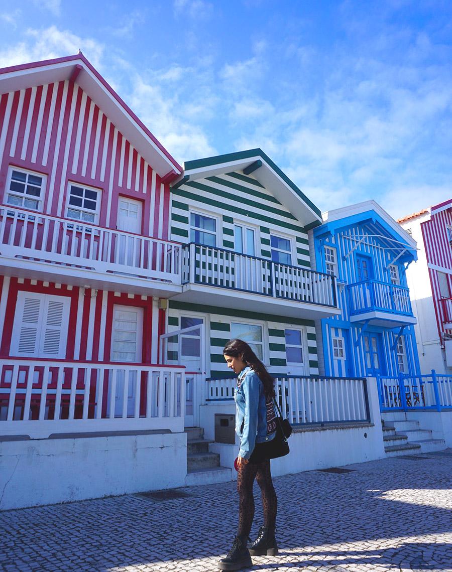 casas de colores rayas costa nova