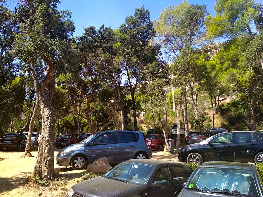donde aparcar en Cala Aiguablava