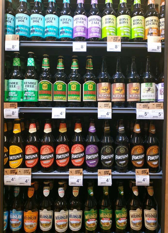 Precio cerveza en Polonia