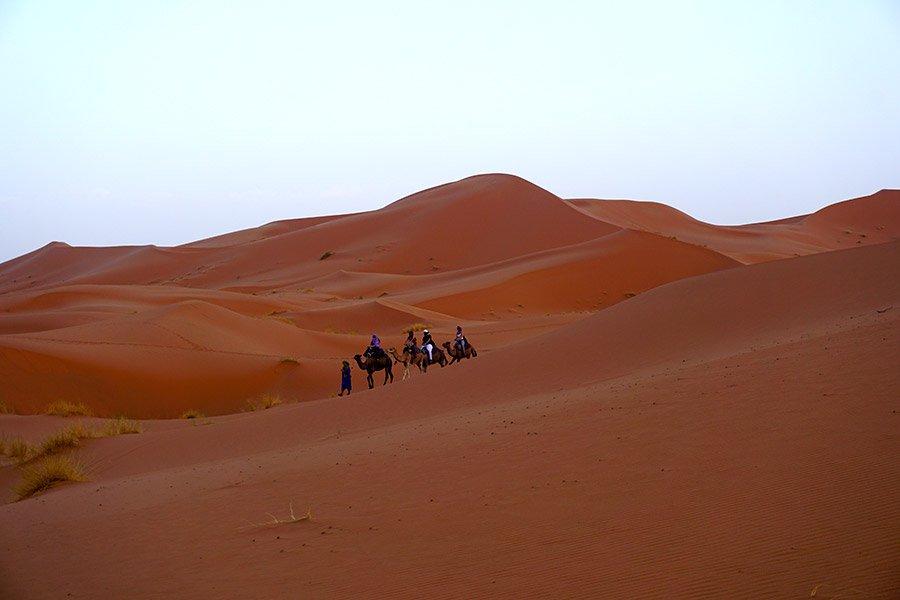 atardecer en el Desierto de Erg Chebbi