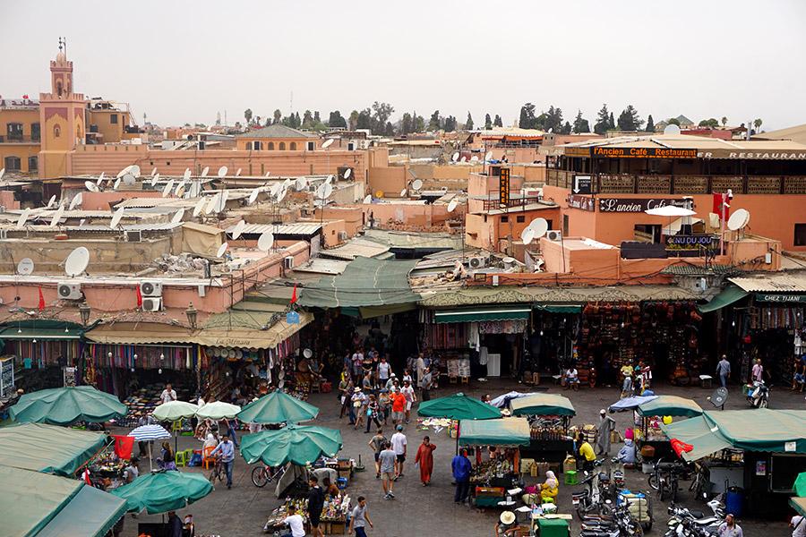 Plaza de Jamaa el Fna zocos