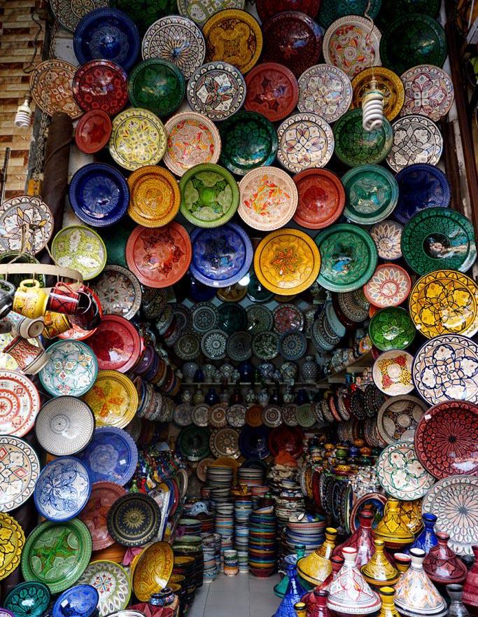 platos ceramica marrakech