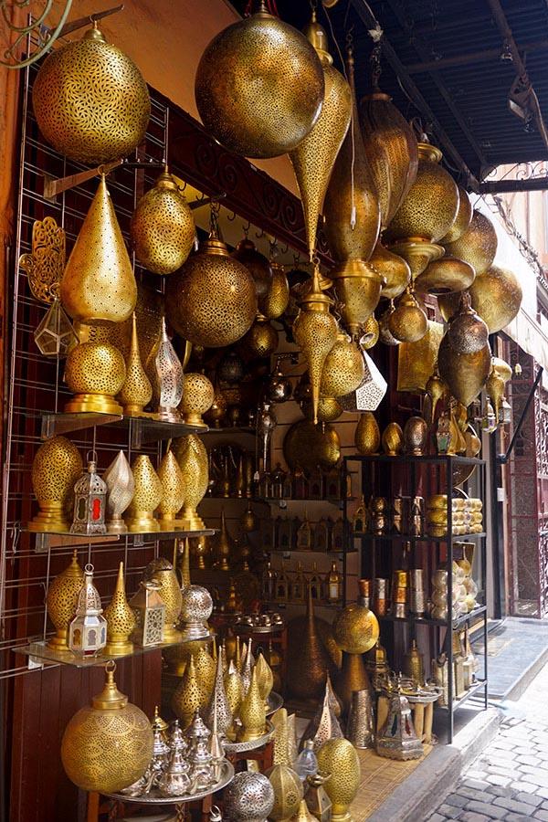 Lámparas en Marrakech