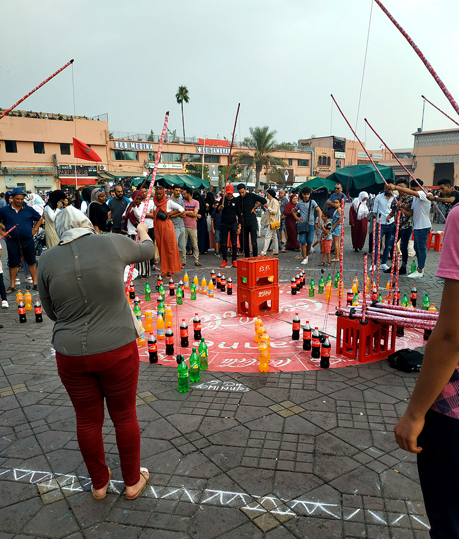 plazaJamaa el Fna juegos