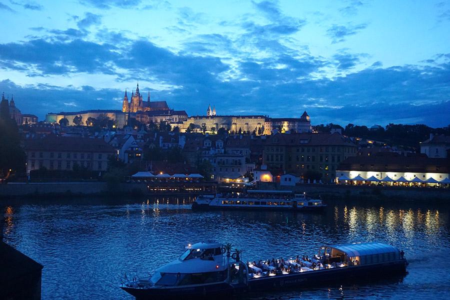 Praga de noche