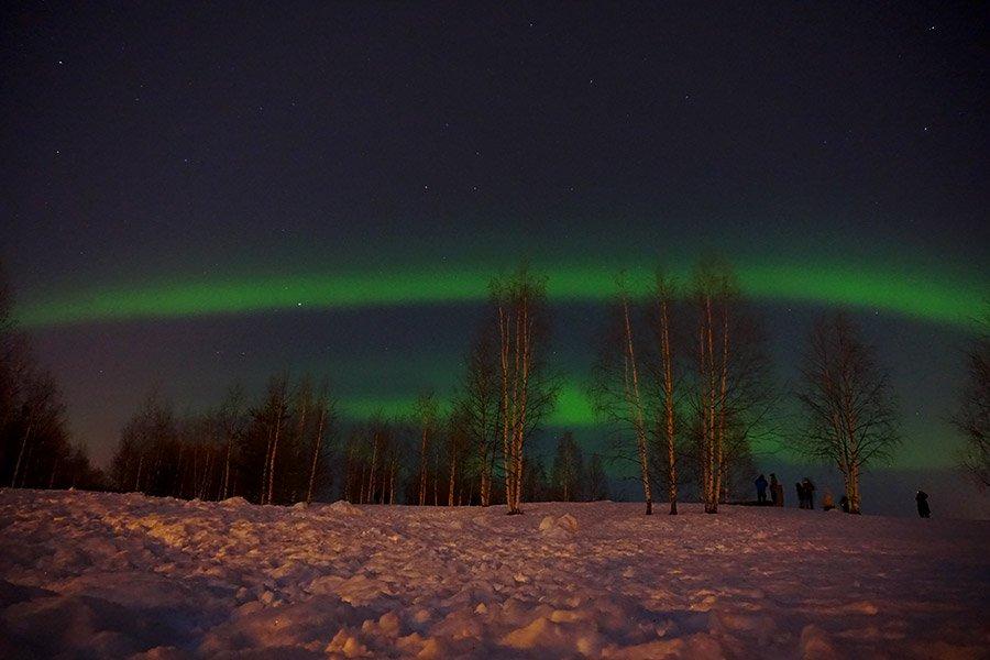 donde ver auroras en rovaniemi