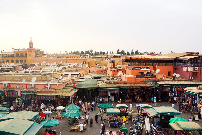 alojarse en la medina de Marrakech