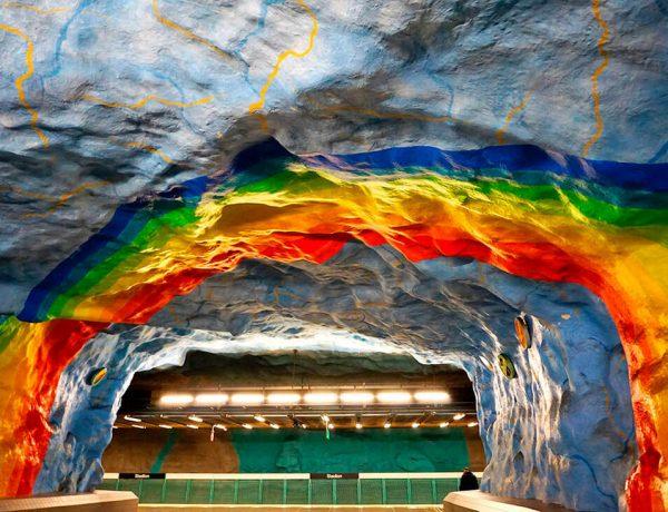 estaciones bonitas metro de Estocolmo