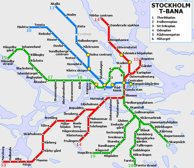 ruta estaciones más bonitas metro Estocolmo