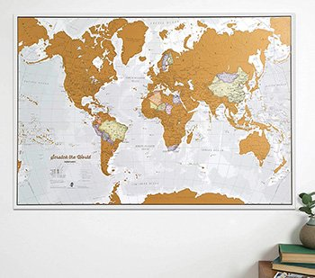poster mapa del mundo para rascar