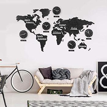 mapamundi de madera pared