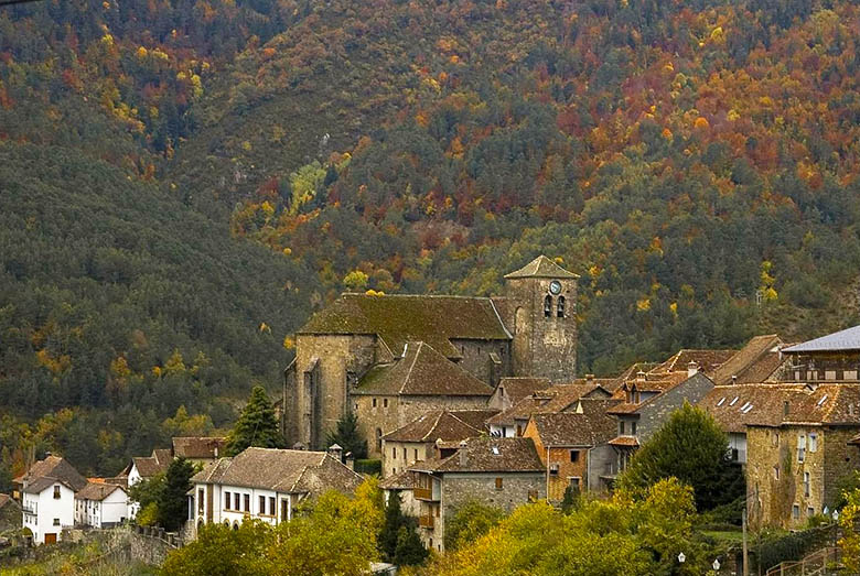 Sitios bonitos pirineo aragonés en otoño