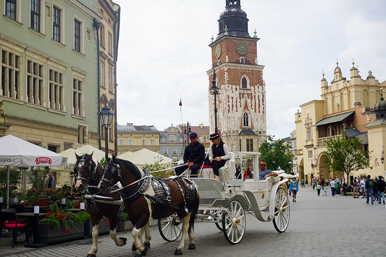 calles del centro de Cracovia