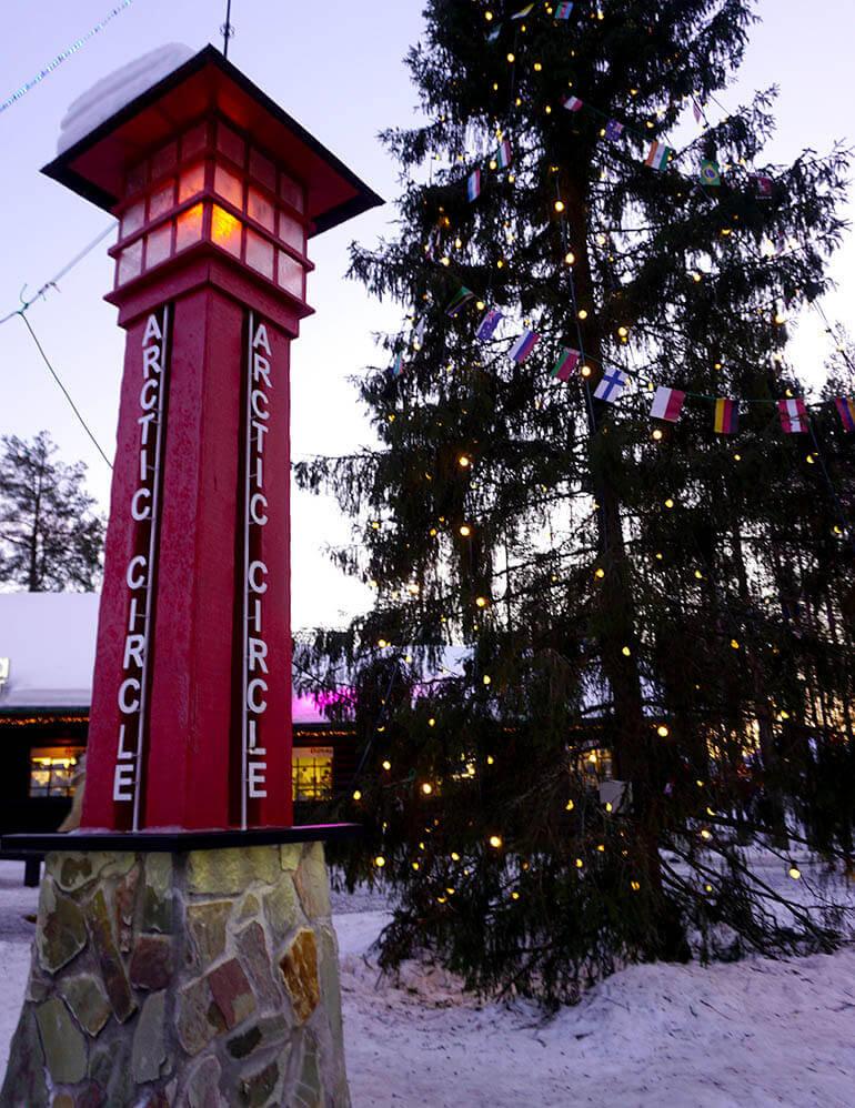 cruzar el Círculo Polar Ártico Rovaniemi