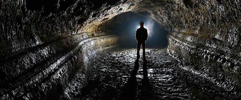 Interior de la Cueva del Viento