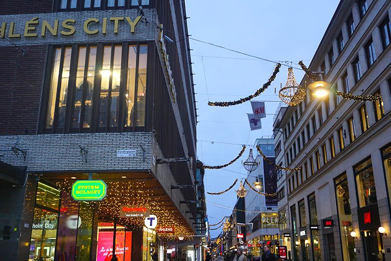 calle comercial en Estocolmo