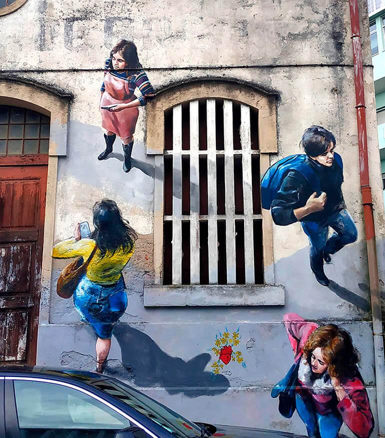 graffitis en aveiro