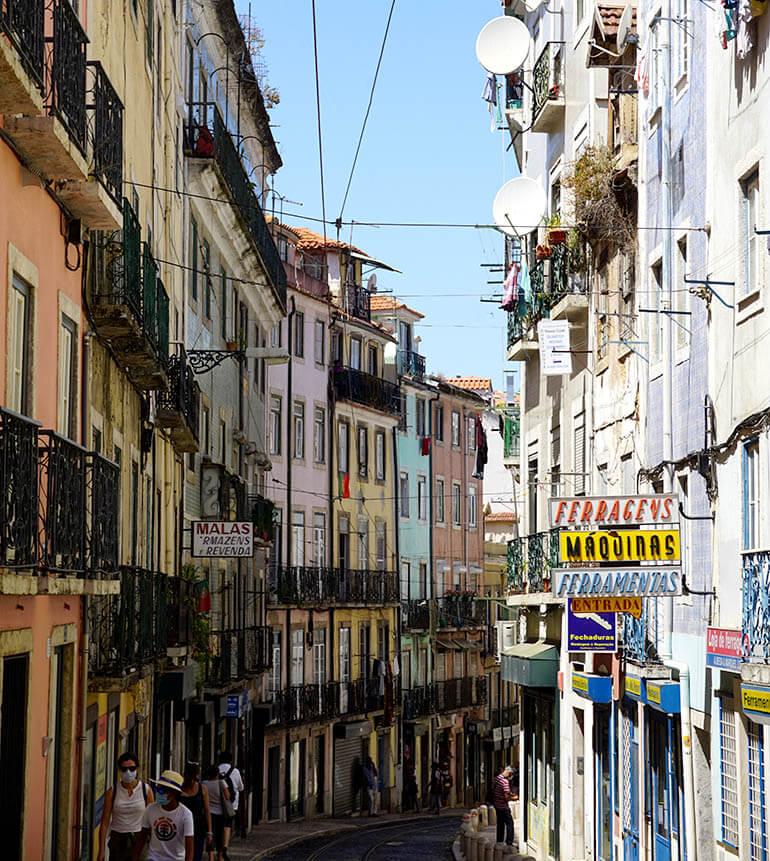Calles típicas de Alfama