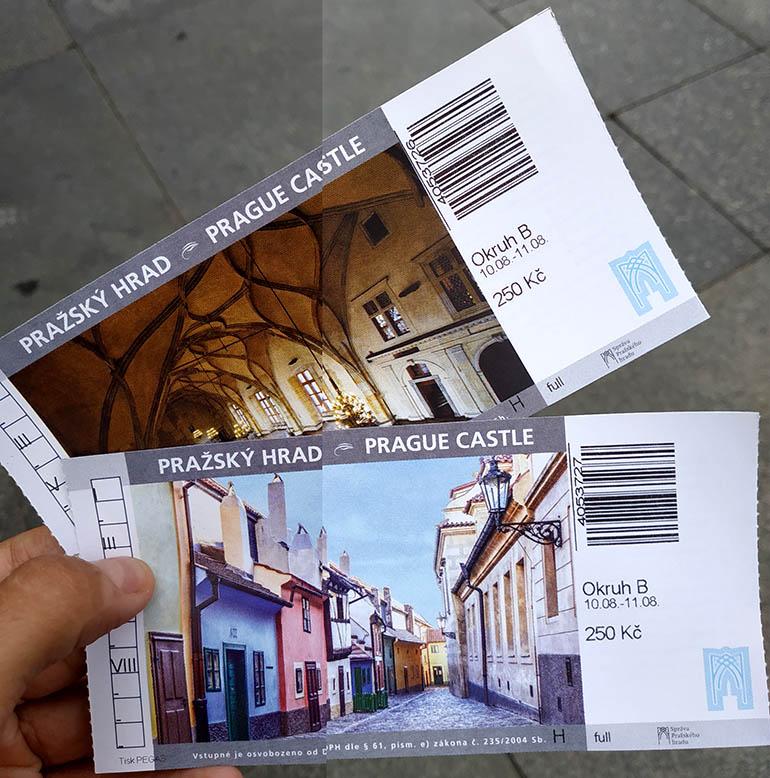 entradas castillo de Praga