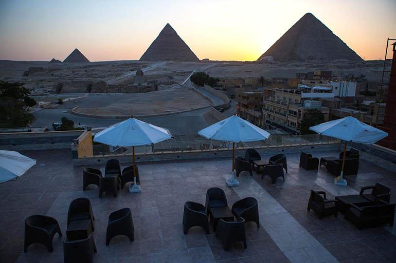hotel cerca de las pirámides Egipto