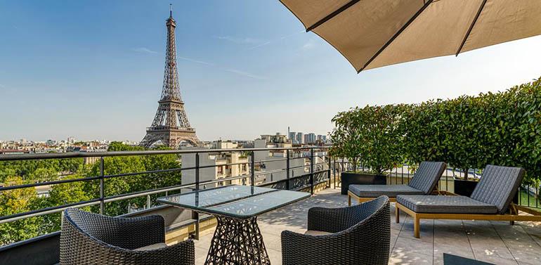 Hoteles de lujo en París